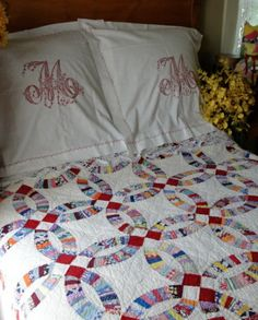 wedding ring quilts - I love everything about this!