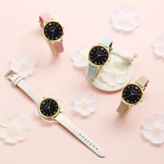 Simple watch for women. From our Quiet nights collection. The Tags: Simple watch Minimalist watch Accessories for her Women's Dress Watches, Business Gifts, Leather Watch Bands, Casual Watches, Beautiful Watches, Fashion Watches, Floral, Supermodels, Bracelet Watch