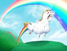 Do unicorns fart rainbows?! Well ya! If there's back lighting and moisture, come on that's just science!