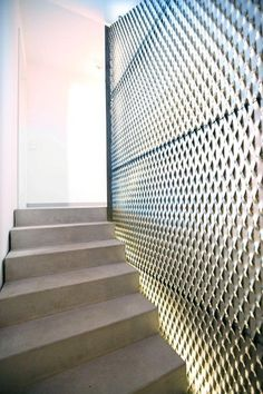 Expanded metal stairwell