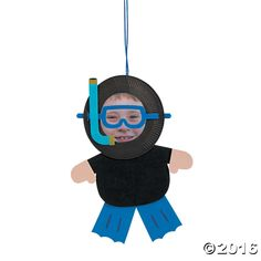 Paper Plate Scuba Diver Picture Frame Craft Kit - Oriental Trading - Discontinued