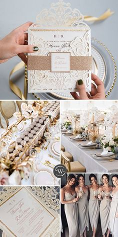 This gorgeous ivory laser cut wrap features a rose gold glittery belly band with tag and a rose gold backer. It is perfect for any wedding and breath-takingly beautiful. Laser Cut Wedding Invitations, Invites, Belly Bands, Unique Weddings, Ethereal, Laser Cutting, Big Day, Ivory, Place Card Holders