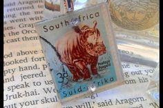 Pendants - Postage Stamp Rhino by eRa Jewelry on hellopretty.co.za