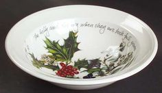 Portmeirion The Holly and The Ivy Oatmeal Bowl