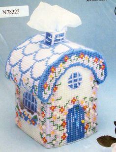 Kit to make a charming English cottage to hold your tissues. You wont know it is covering a box of tissues, because the tissues look like they
