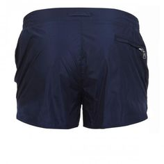NYLON BOARDSHORTS WITH ELASTIC ADJUSTABLE WAISTBAND - Pupboy II nylon Boardshorts with an elastic adjustable waistband, internal mesh, a zippered back pocket.  #mrbeachwear #beachwear #swimshort #summer #beach #mens #fashion #orlebarbrown #blue #navy