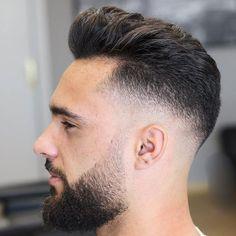 Short Blowout Haircut - Best Blowout Haircuts For Men: Cool Men's Blowout Taper Fade Hairstyles Cool Haircuts, Hairstyles Haircuts, Haircuts For Men, Cool Hairstyles, Hairstyle Men, Medium Hairstyles, Pompadour Hairstyle For Men, Wedding Hairstyles, Modern Pompadour