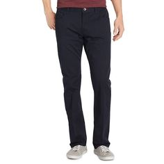 Men's IZOD Weekend Washed Straight-Fit 5-Pocket Pants, Size: 33X32, Dark Blue