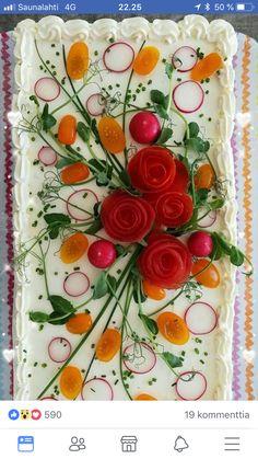 Birthday Cakes, Vegetables, Food, Anniversary Cakes, Veggies, Essen, Birthday Cake, Vegetable Recipes, Yemek