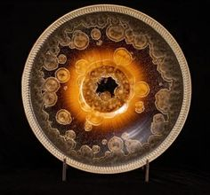 Tom Wallick, Large Mink and Amber Crystalline Charger