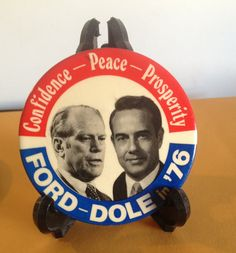 RARE Gerald Ford Bob Dole 1976 Pin by NewVintagebyTosh on Etsy, $19.99