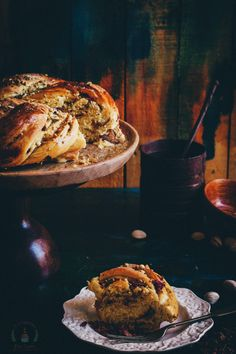 Saffron, Rose and Pistachio Bread - My Indian Holiday Wreath Bread