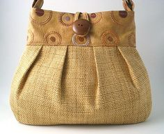 large handmade pleated bag   faux leather and italian by daphnenen,