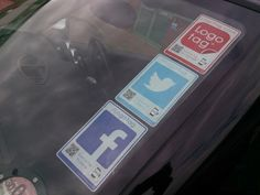 Active social media stickers for vehicles. #NFC #QR.