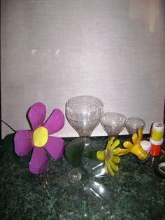 Flores con botellas plasticas 1