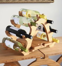 7 bottle arch wine rack with cutting board by BrydonDesign on Etsy, $62.00