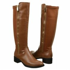 Make a chic statement in the Color knee-high #boots by Nickels. #famousfootwear #tanboots