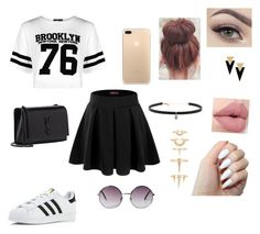 """Tumblr? 🌝"" by bitchhmartinez ❤ liked on Polyvore featuring adidas, Boohoo, Doublju, Yves Saint Laurent, Monki, Carbon & Hyde and Luv Aj"