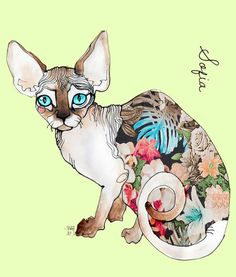 'Sofia the sphynx' by Sara Ligari on artflakes.com as poster or art print $18.03