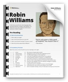 Robin Williams Lesson plan  Free plan Http://t.co/uw8KOJP7Ph