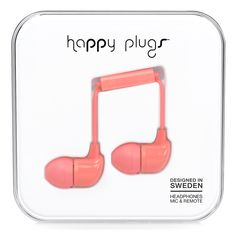 Happy plugs - coral