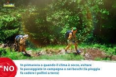 Evita le passeggiate in campagna o nei boschi.