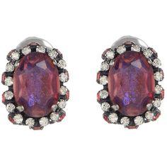 Konplott Earrings purple ($79) ❤ liked on Polyvore