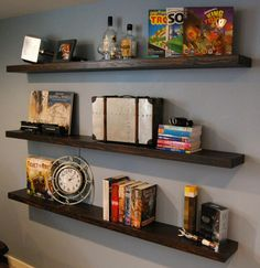 It makes your walls look ten times better, AND it adds storage space!