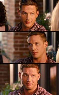 Gorgeous TOM HARDY!!! not only does he have the face.. he has the accent!! :D (in This Means War)