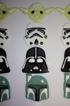 Star wars cake toppers. I may have to go the easy route and buy these instead of creating some of my own.