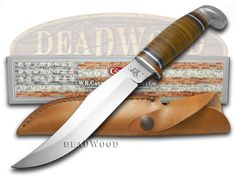 CASE XX Polished Leather 6' Fixed Blade Hunter Stainless Knife - CA386 | 386 - 021205003862