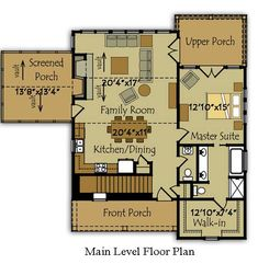 Southern Cottage Floor Plan... first floor, Landing House Architects.