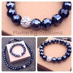 Midnight Crystal Bracelet FlutterBy Creations
