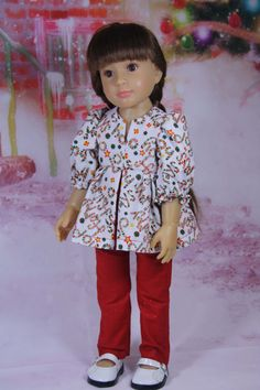 Pleated Blouse Pattern for Slim 18 inch dolls Kidz by windwoman21
