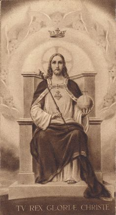 Catholic Art, Religious Art, Jesus Reyes, Image Jesus, Vintage Holy Cards, Pictures Of Jesus Christ, Worship The Lord, Christ The King, Light Of The World
