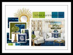 "Pantone Color Of the Year 2013 ""Emerald"" Mood Board | Interior Design Ideas"