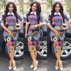 Need to add some colour to your wardrobe? Here are 70 Pictures of currently trending Ankara styles in We give Kudos to the exceptional stylists, and designers who put together these lovely pieces. Modern Ankara Styles in Vogue Short Ankara Dresses, Ankara Dress Styles, Ankara Gowns, African Print Dresses, African Print Fashion, Africa Fashion, African Fashion Dresses, African Dress, Ankara Fashion