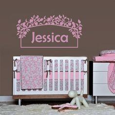 Wall Decals Sticker Bedroom Kids Nursery Baby Custom Name Monogram Personalized Flowers Sign Words Frame (Z1095) StickersForLife http://www.amazon.com/dp/B00DT194YA/ref=cm_sw_r_pi_dp_CJPevb1ZCZMB5