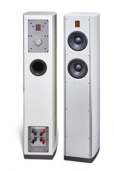 #Burmester BA31 #Loudspeaker White High-Gloss Enamel with Air Motion Transformer and rear-firing ambience tweeter