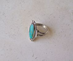 Vintage Sterling Silver Turquoise Ring Native by cynthiasattic