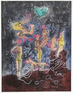 The Cabinet of the Solar Plexus: Roberto Matta (1911 - 2002)... L'ame du Tarot de Theleme, Aquatint Etchings 1984