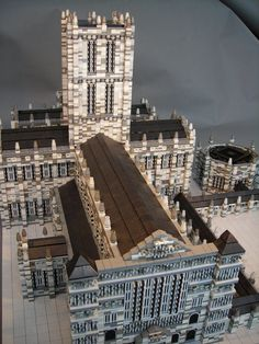 MicroBricks: Salisbury Cathedral. Check out my new board: http://pinterest.com/hotlegos/lego-cathedrals/