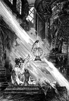 "Bernie Wrightson  Illustrations of Mary Shelley's ""Frankenstein"""