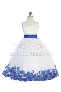 flower girl dress, and each girl will have a different color