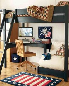 From channel4.com--I like these colours and style (minus the American flag styled rug,of course..wonder if you can get one in Aussie colours...).