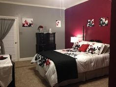 Grey And Red Scheme In Bedroom Designs A Truer Really Thinking About This
