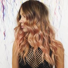 """Blorange"" Is The Latest Hair Color Trend To Sweep Instagram — & It's Even Better Than Rosé #refinery29 http://www.refinery29.com/2017/01/136926/blorange-hair-color-trend#slide-13 Dark roots with the pink ends is your new festival go-to...."