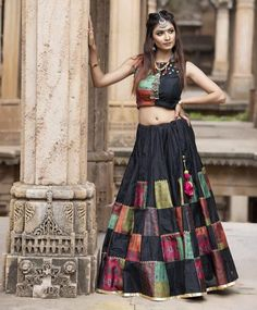 Lehenga Choli Indian Wedding Wear Ethnic Banglory Satin Choli With Dupatta LG Choli Blouse Design, Choli Designs, Lehenga Designs, Saree Blouse Designs, Indian Gowns Dresses, Indian Fashion Dresses, Indian Designer Outfits, Designer Dresses, Fashion Clothes