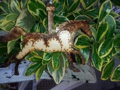 Carousel Horse Woodburned Ornament by PurpleCowArt on Etsy