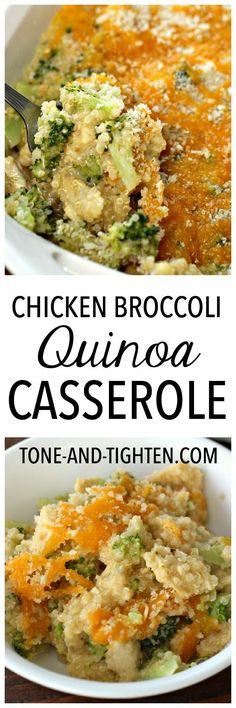 Chicken Broccoli Quinoa Casserole on Tone-and-Tighten.com